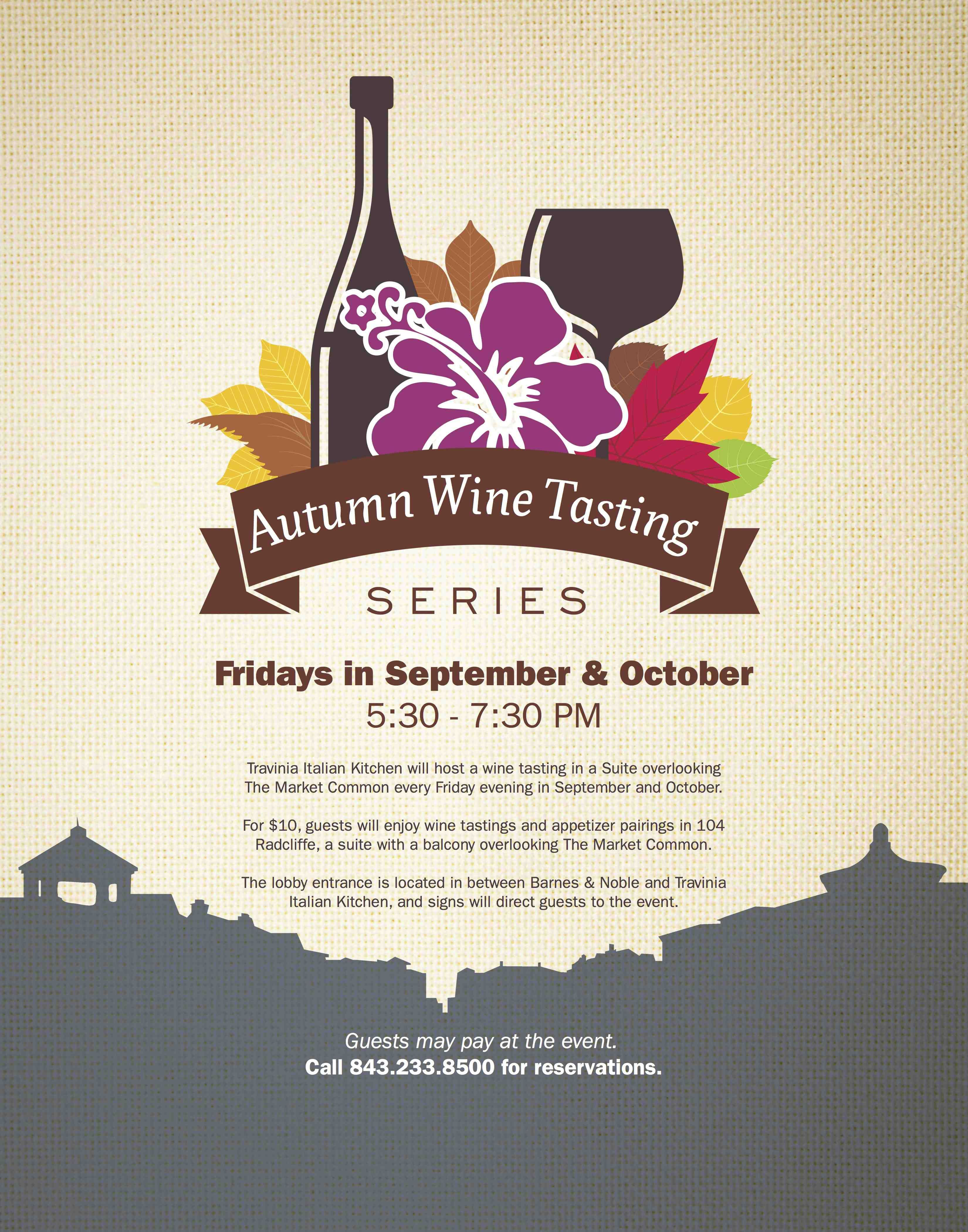 wine tastings every friday in a suite overlooking the market