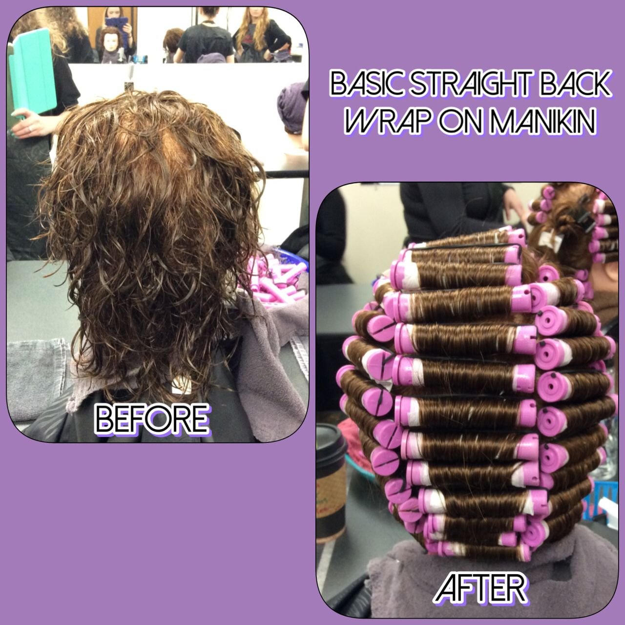 Straight perm solution - I Completed A Basic Straight Back Wrap Perm On Manikin Finished On 11 12