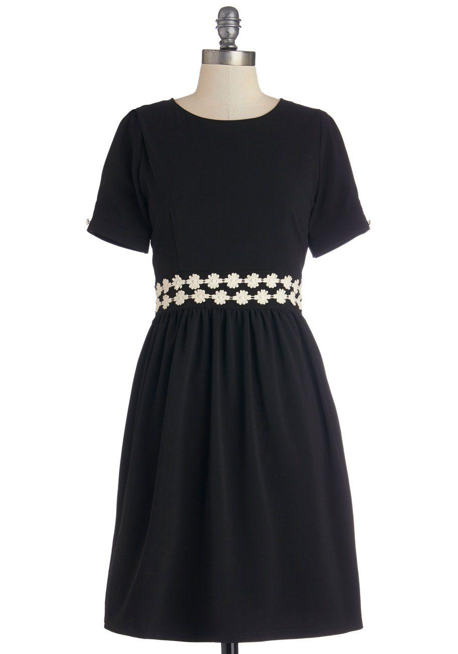Belted boat neck aline dress in navy plaid modcloth vintage