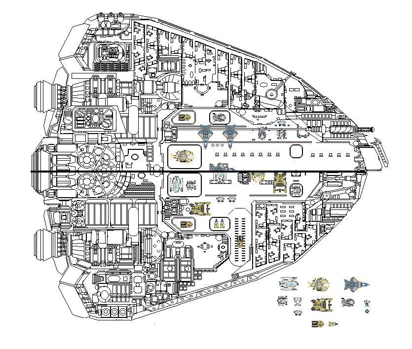 MANTA ship cutaway by Journeyman81