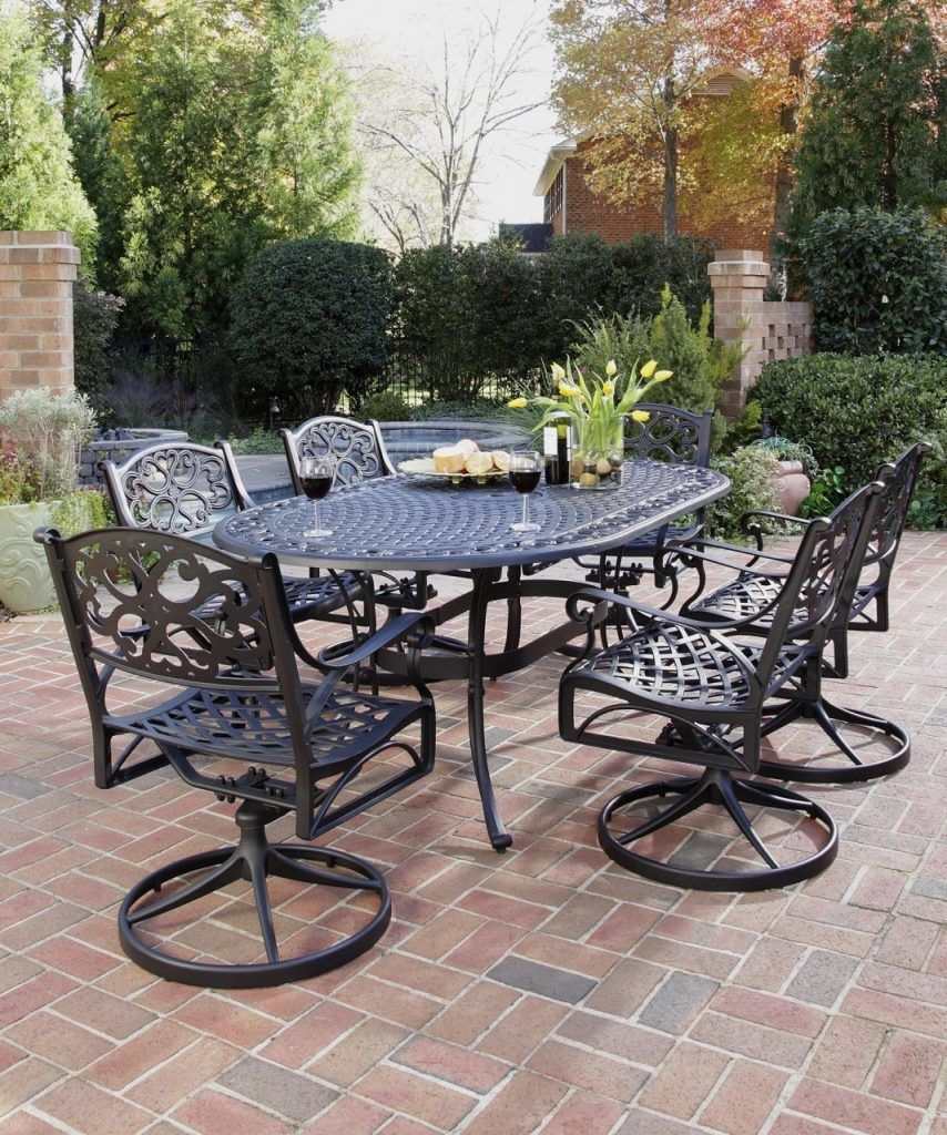 Cast Iron Patio Furniture Wrought Dining Table