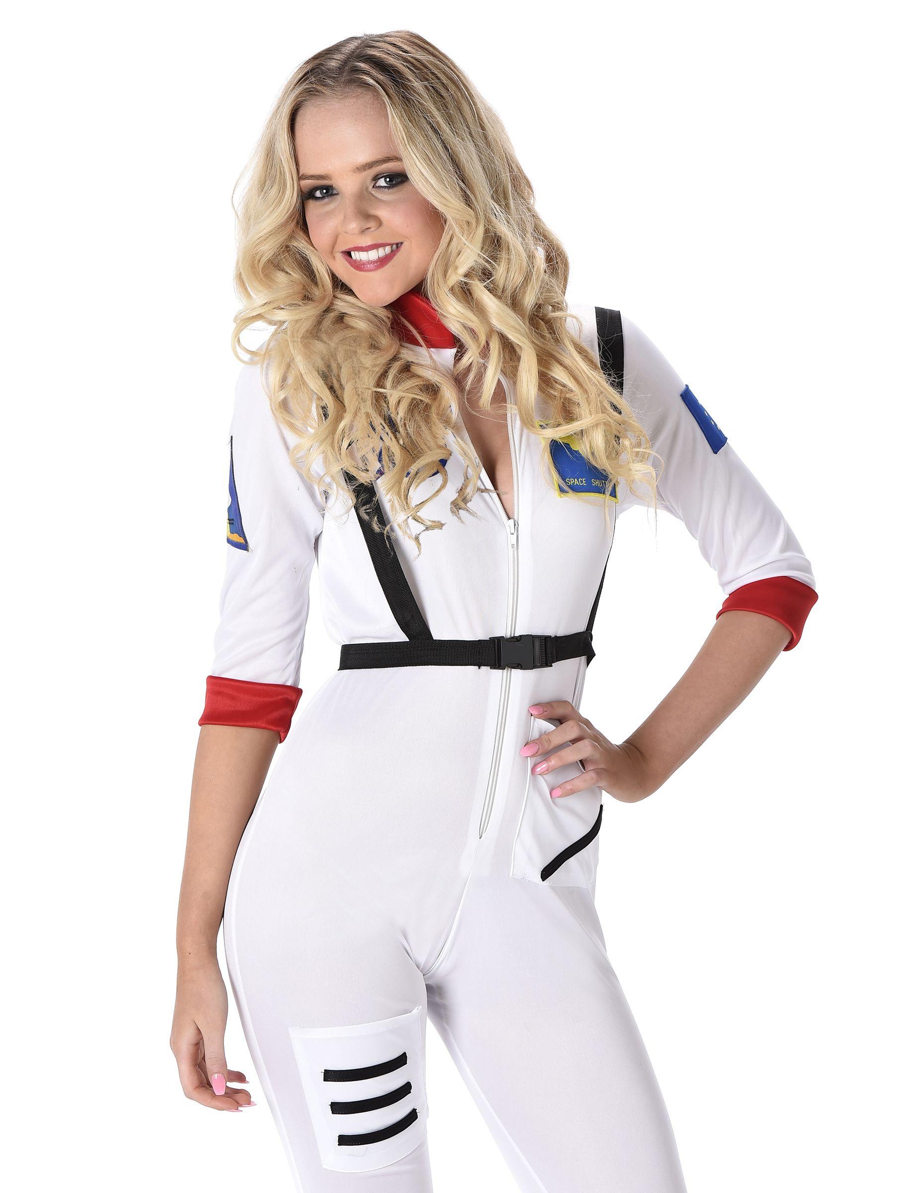 27f520bc973038 Astronautin Damenkostüm Raumfahrerin weiss-bunt , günstige Faschings Kostüme  bei Karneval Megastore, der größte