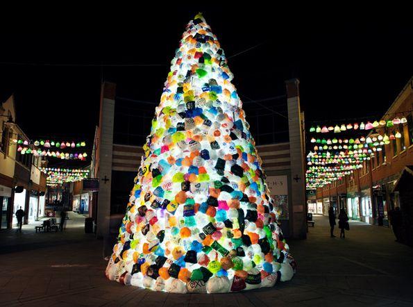 Consumerist Christmas Tree By Luzinterruptus Art Installations Sculpture Contemporary Art Recycled Christmas Tree Plastic Christmas Tree Creative Christmas Trees