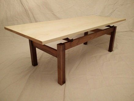 Ash Walnut Floating Top Coffee Table By Javed Akhtar
