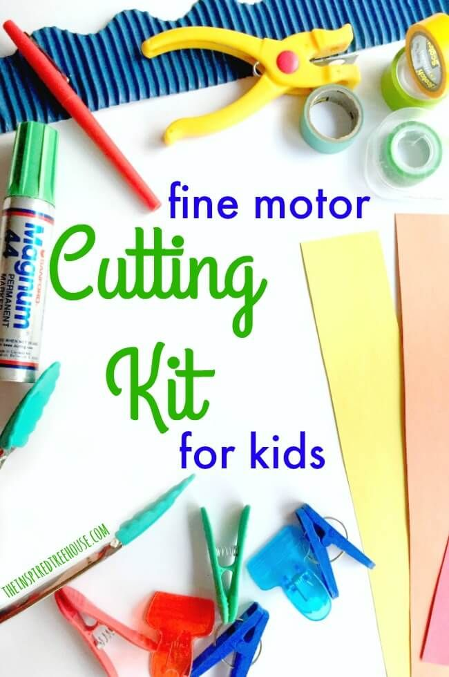 The Inspired Treehouse - There are so many fun and creativecutting activities for preschoolers and young kids. This cutting kit is a great way to introduce the skills needed for cutting with scissors!