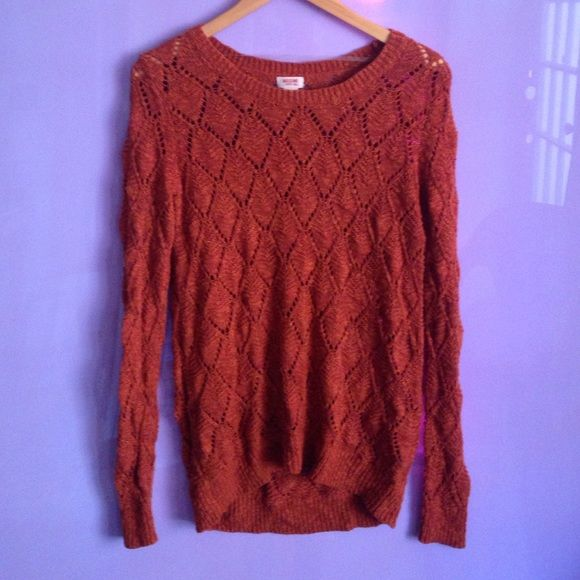 Mossimo Knit Sweater Orange knit sweater . Gently worn Mossimo Supply Co Sweaters Crew & Scoop Necks