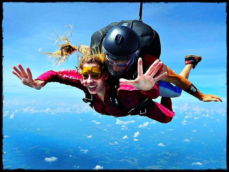 The Feeling Of Tandem Skydiving Skydiving Paragliding Diving