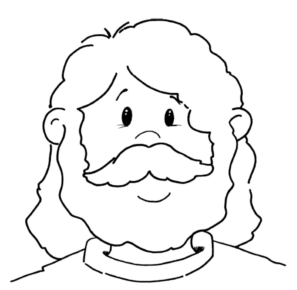 Jesus Face Coloring Page | Inspirational/Sunday school | Pinterest ...