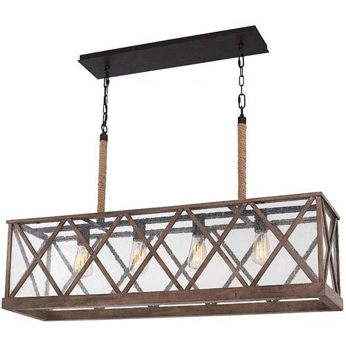 Murray Feiss El Nido: Feiss Lumiere Dark Weathered Oak And Oil Rubbed Bronze