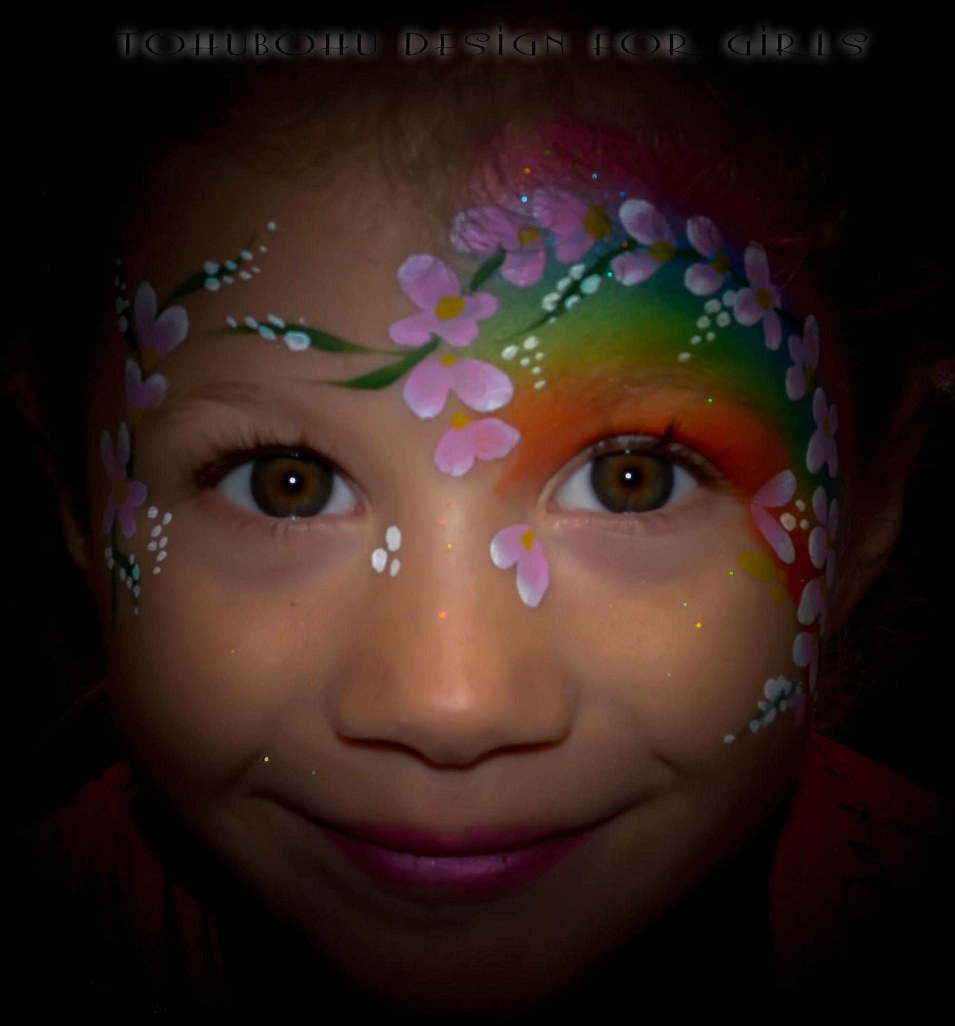 cute flowers face painting, adorable princesse des fleurs ...
