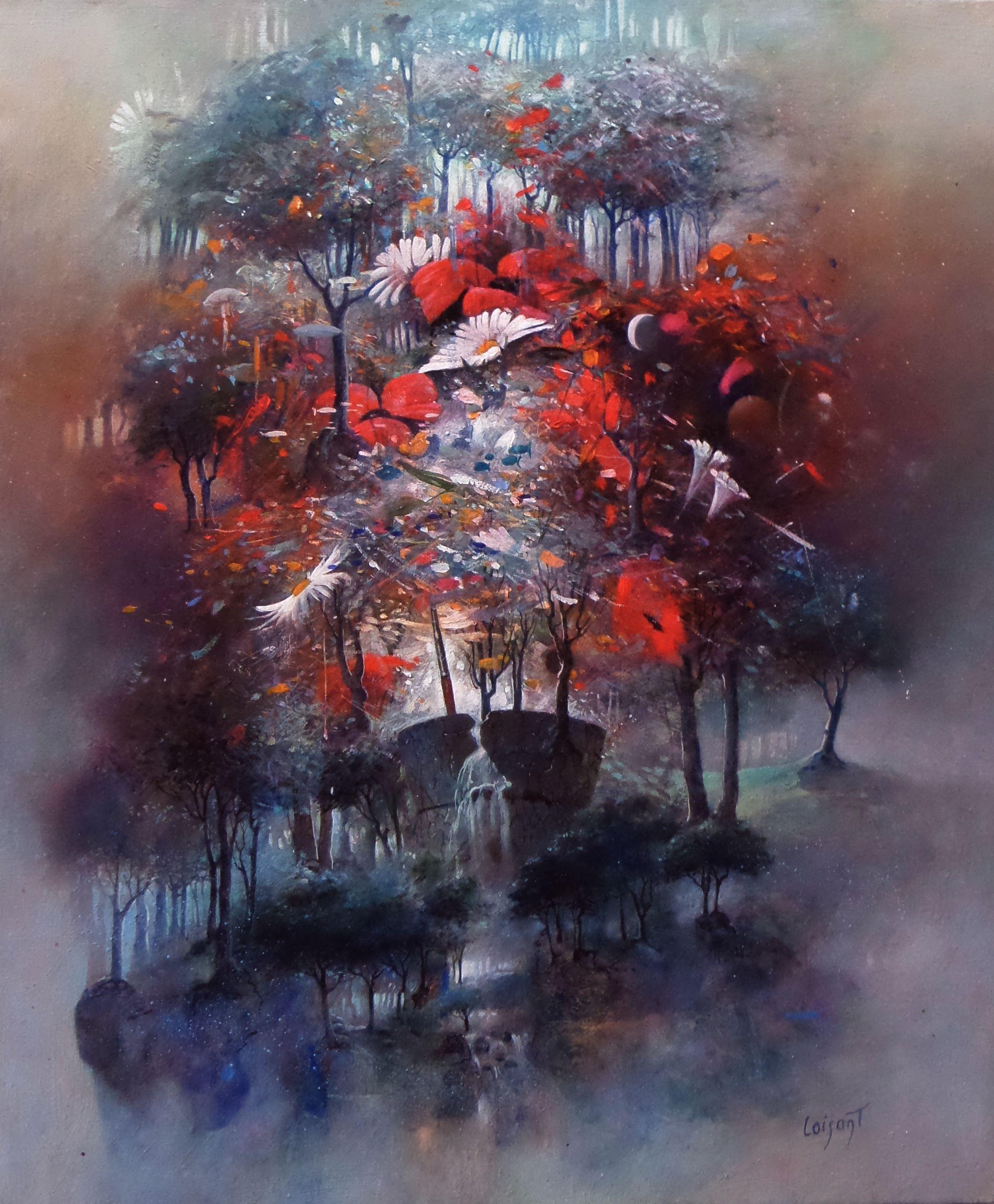 Bouquet D Eveil Huile 46 X 38 Cm Paysage Contemporain Les Arts