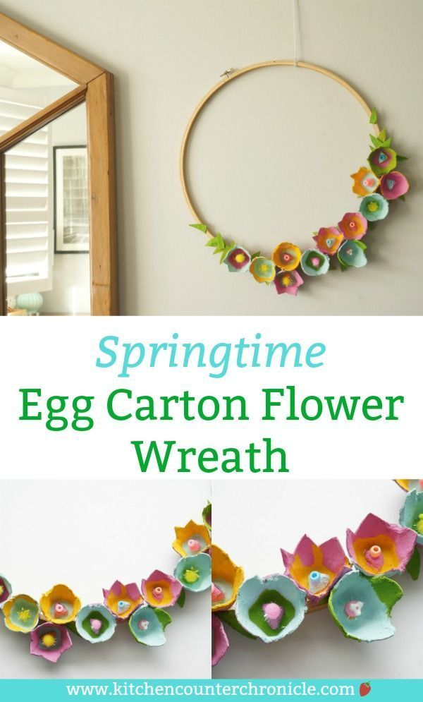Photo of How to make a beautiful egg carton wreath with egg carton flowers – #beautiful # … – my blog