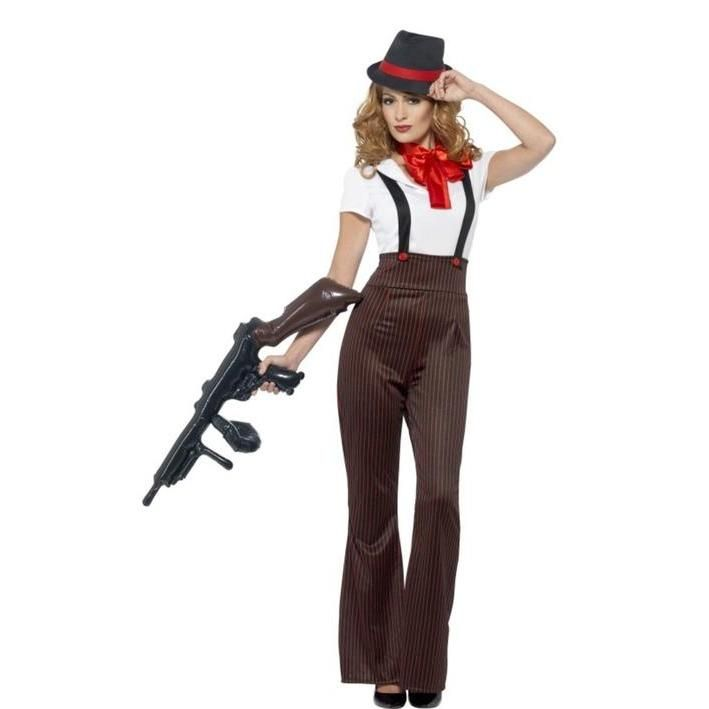 Disfraz de Gánster de la mafia para mujer  280a635cc30