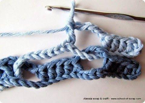 Bufanda multicolor tejida al crochet con un punto muy original ...