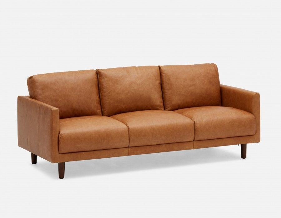 JEFFERSON - 100% Leather 3-seater Sofa - Caramel   leather ...