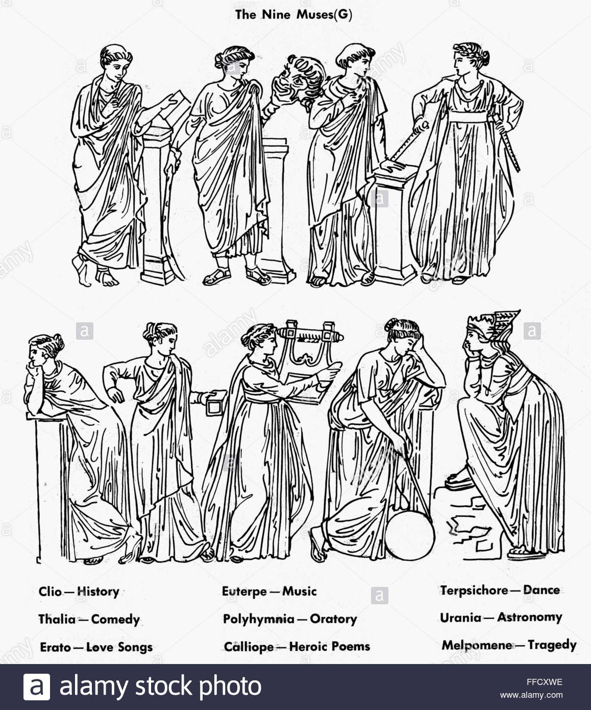 Nine Muses Nthe Nine Muses Of Greek Mythology Top Row Clio Muse Of Ffcxwe Jpg 1 158 1 390 像素 Greek Mythology Tattoos Clio Muse Greek Mythology