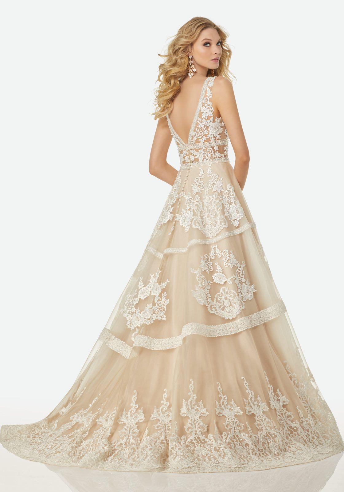 Michelle Randy wedding dresses, Wedding dresses, Aline