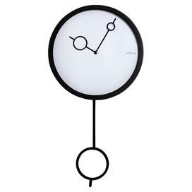 Modern Pendulum Wall Clock With A Minimalist Circle Design Product Wall Pendulum Clockconstruction Material Glass Pendulum Clock Clock Pendulum Wall Clock