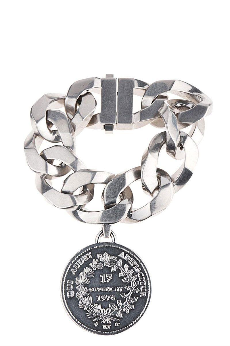 Givenchy Oversized Chain And Medallion Bracelet