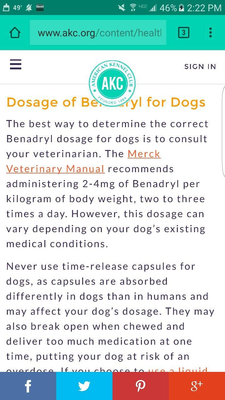 Benadryl for dogs benadryl dosage benadryl dogs