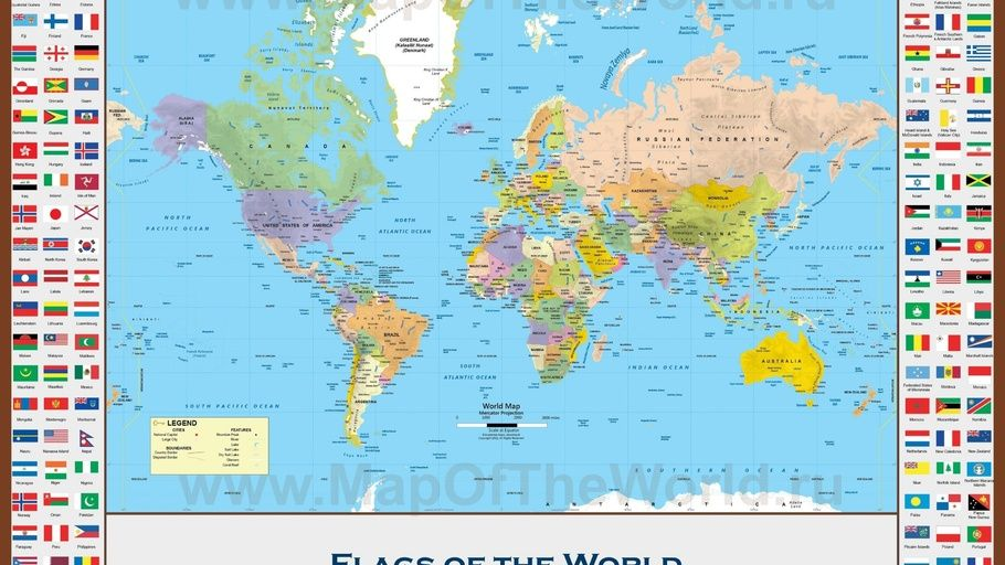 Educational Flags World Map Maps Flag World Map Best Travel