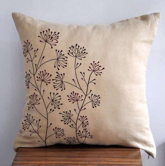 My Embroidered Throw Pillow Ideas: Ixora Throw Pillow Cover 18