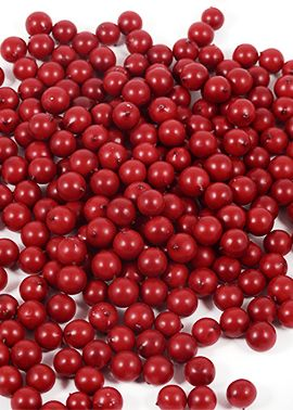 Fake Matte Red Christmas Winter Berries Holiday Event Party Decor Prop