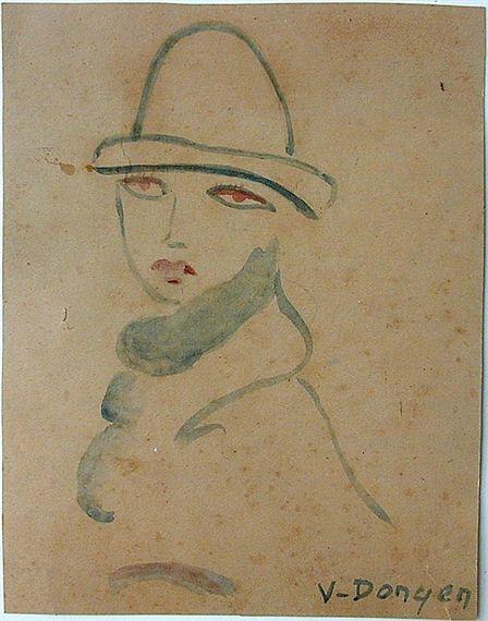 Kees van Dongen - Portrait In Fauvist Style
