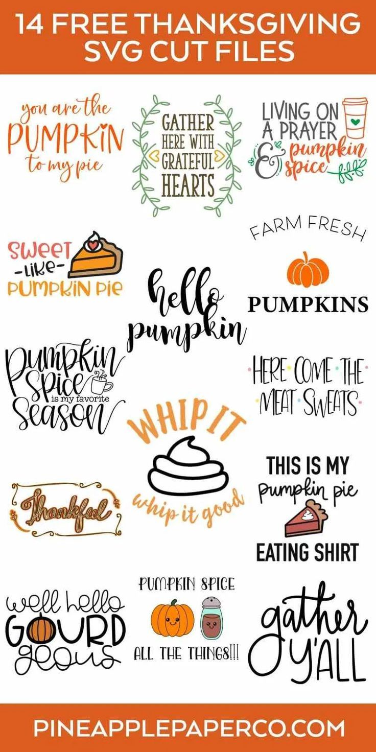 Free Gather Y'all Thanksgiving SVG File Pineapple Paper