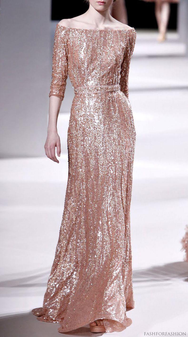 Rose gold sequin sparkle dress evening wear pinterest sequins