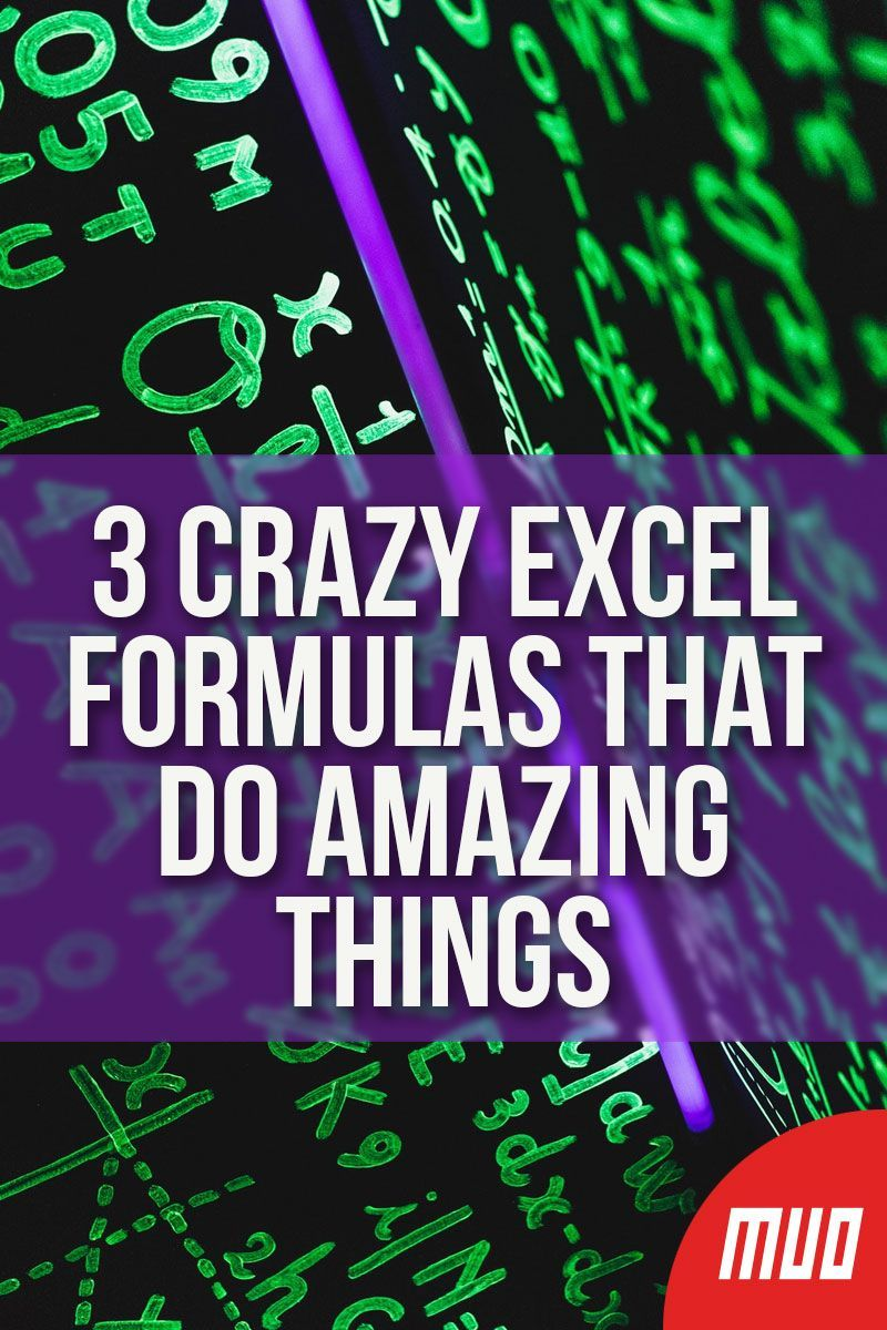 3 Crazy Excel Formulas That Do Amazing Things --- Microsoft Excel is one of the most powerful spreadsheet tools, with an impressive collection of built-in tools and features. In this article, you'll learn how powerful Excel formulas and conditional formatting can be, with three useful examples. #Excel #MicrosoftOffice #Tips #Microsoft #Spreadsheet #Formulas #ExcelFormulas #Productivity