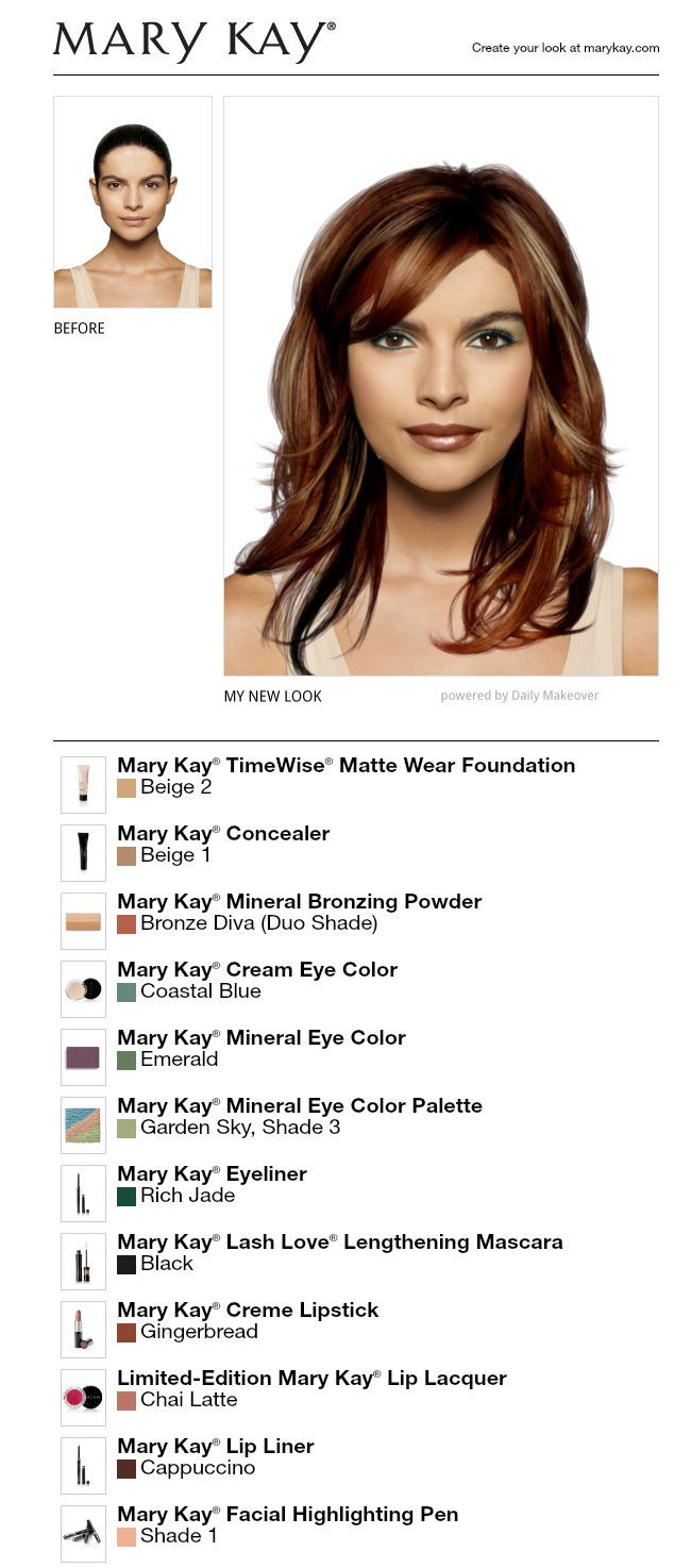 i just got a great new look using the free mary kay® virtual
