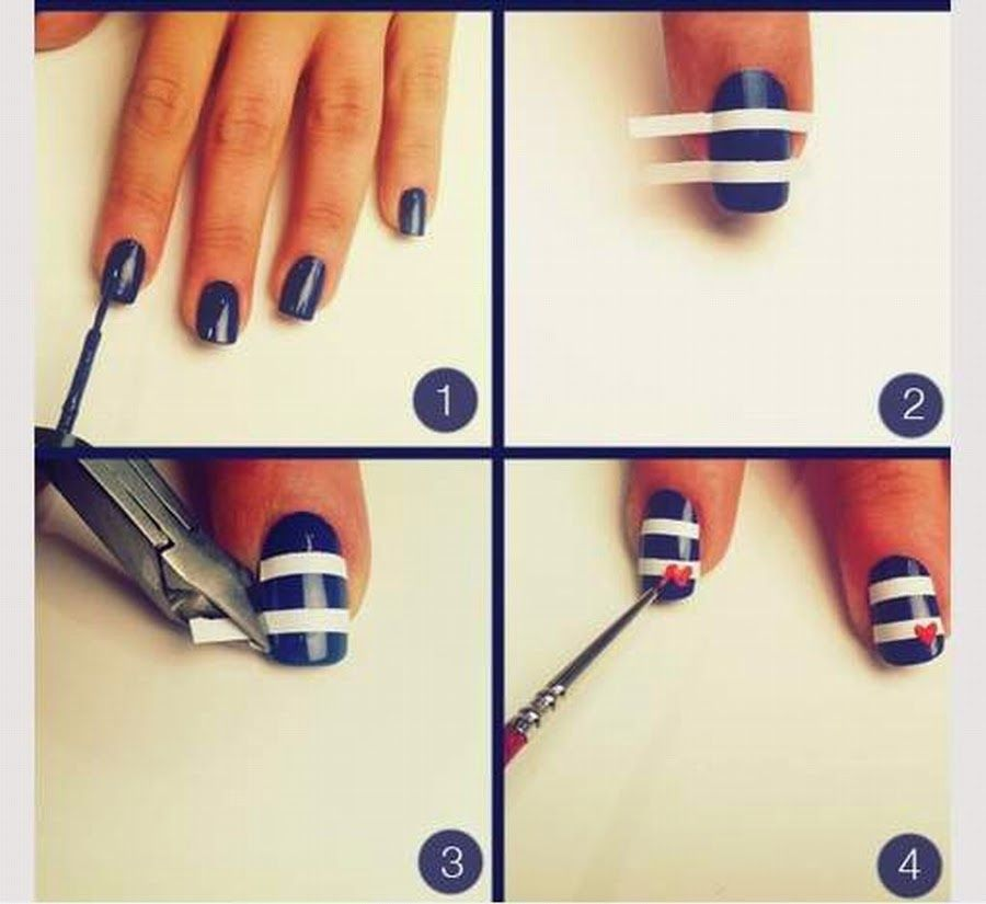 Simple Nail Arts For Beginners - http://www.mycutenails.xyz/simple ...