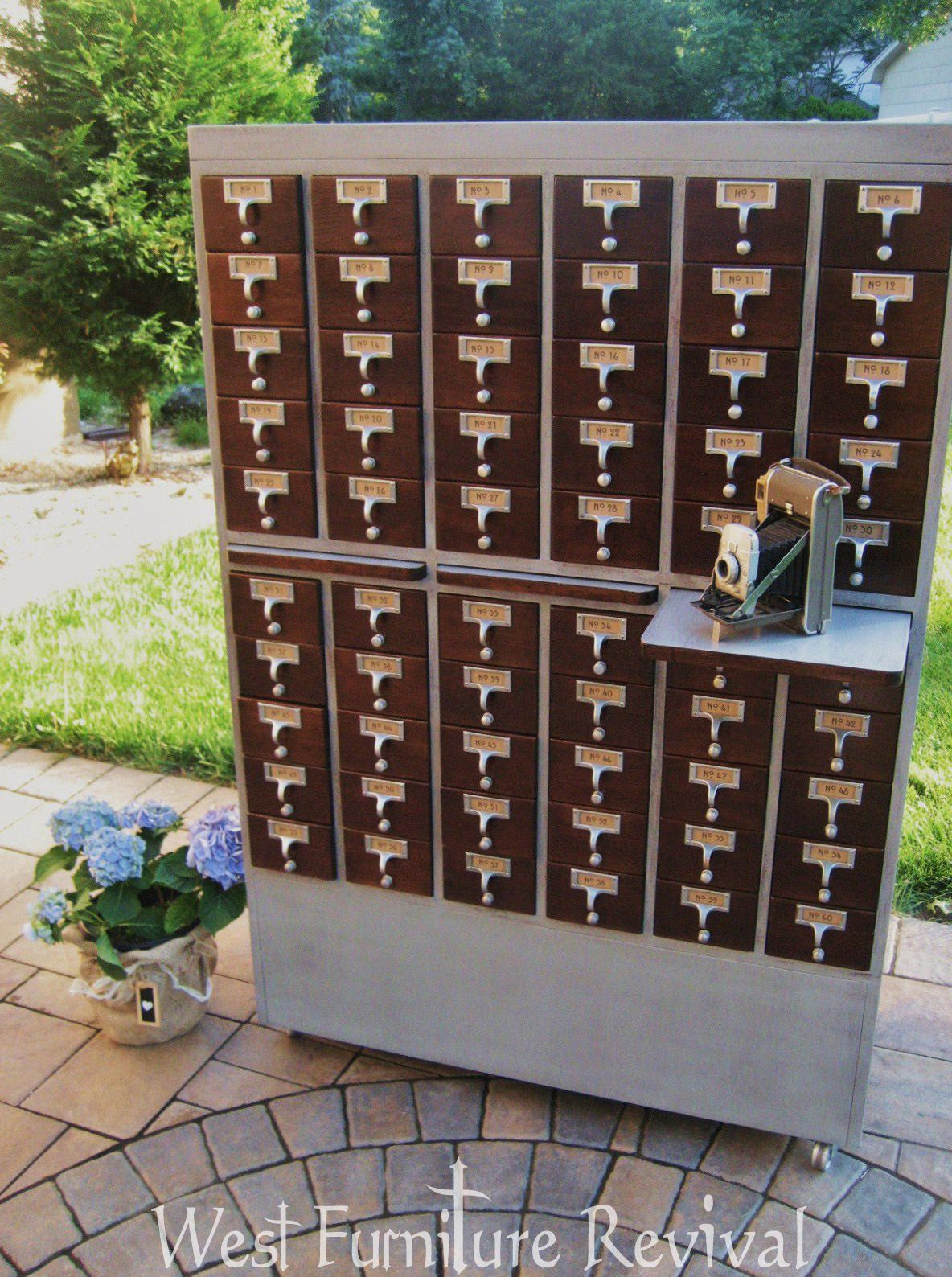 west furniture revival card catalog redo diy chalkpaint and free rh pinterest com