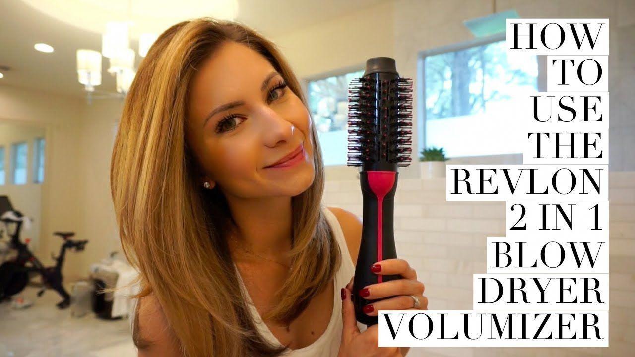 Hair tutorial how to use revlon 2 in 1 blow dryer