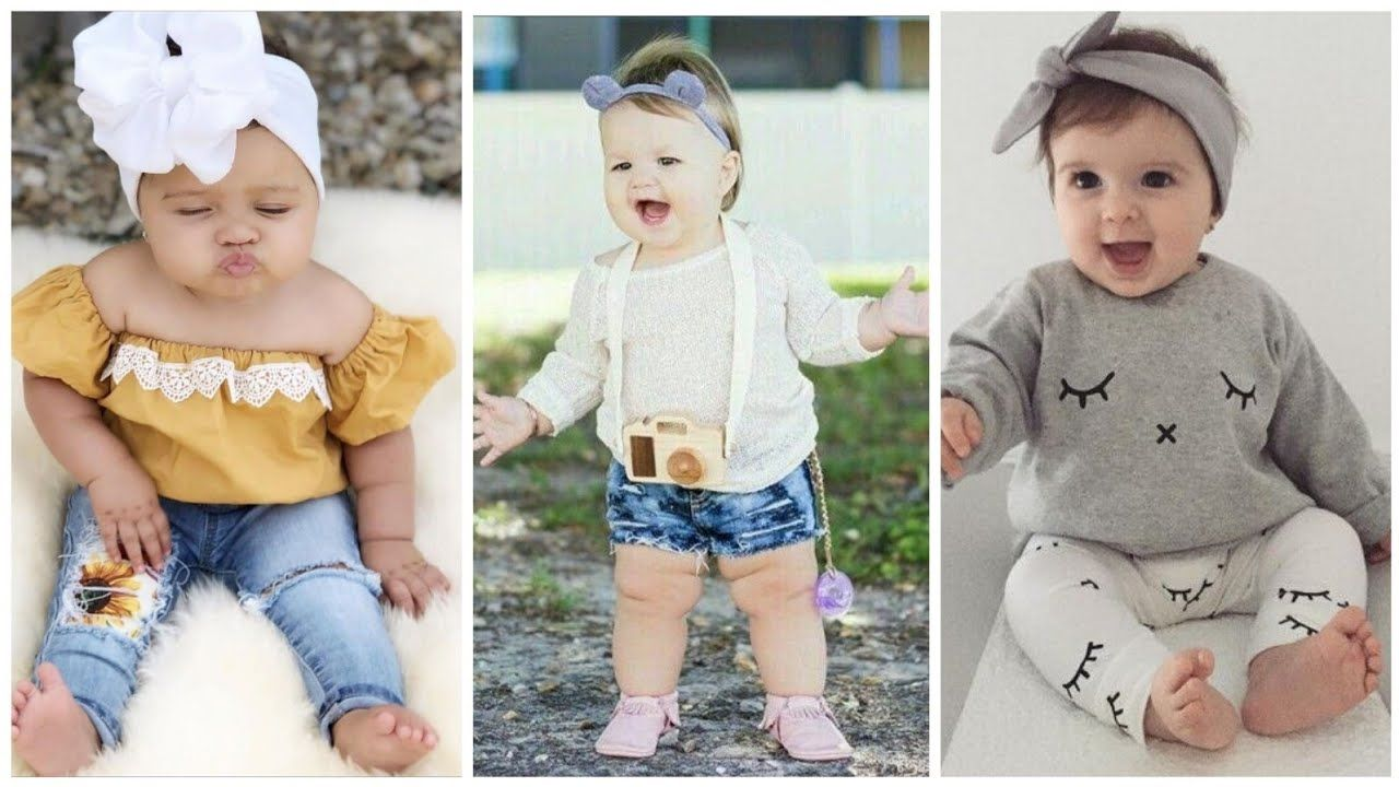 Latest baby girl dresses /stylish outfit ideas for baby girls