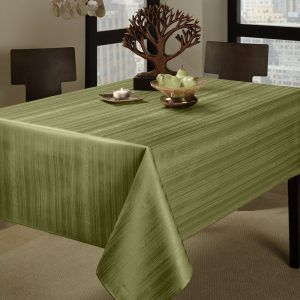 1. Benson Mills Flow Heavy Fabric Tablecloth Weight 60 by 104