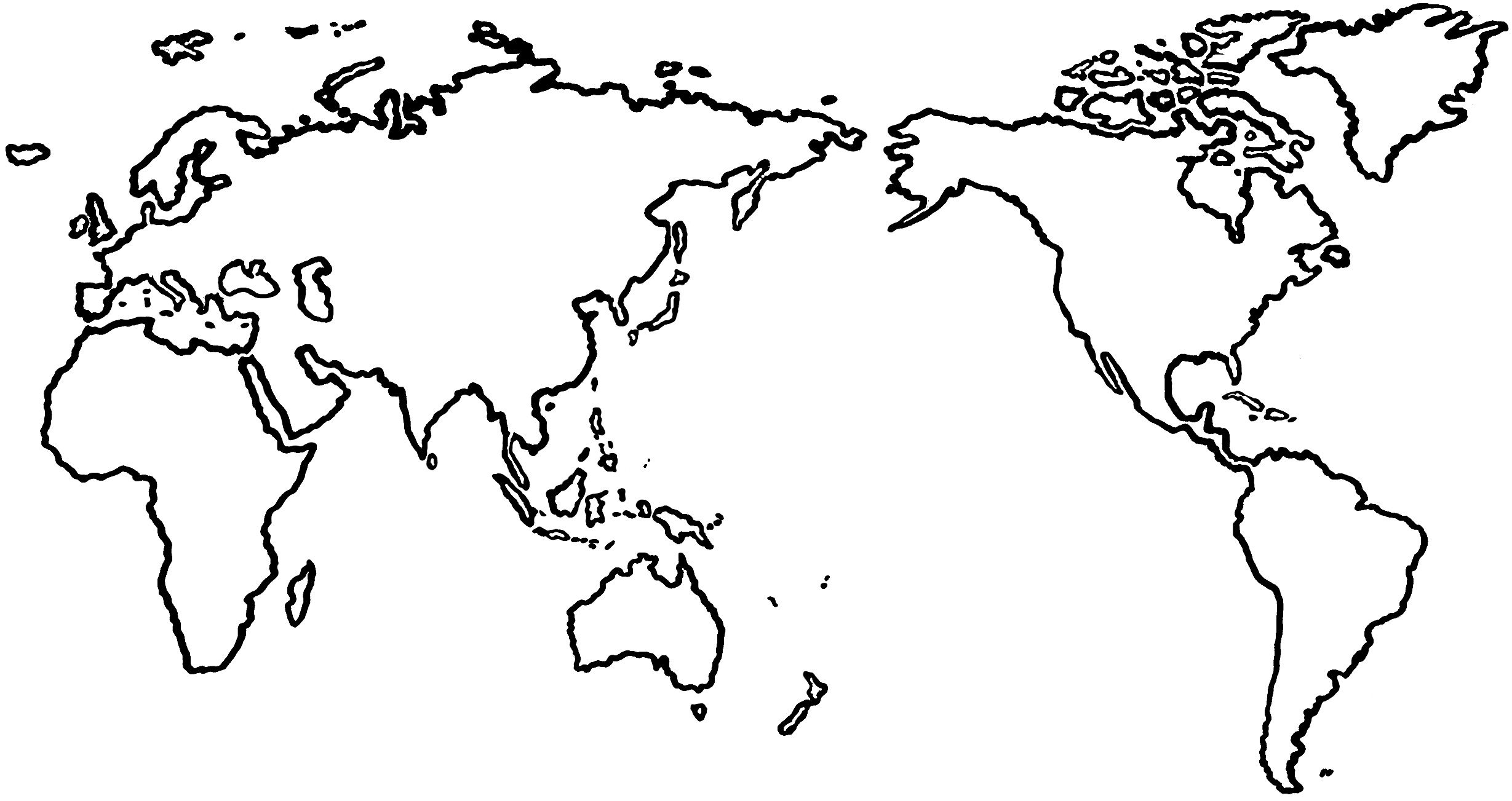 Pin by Sara Auger on 2014 | World map outline, World map template ...