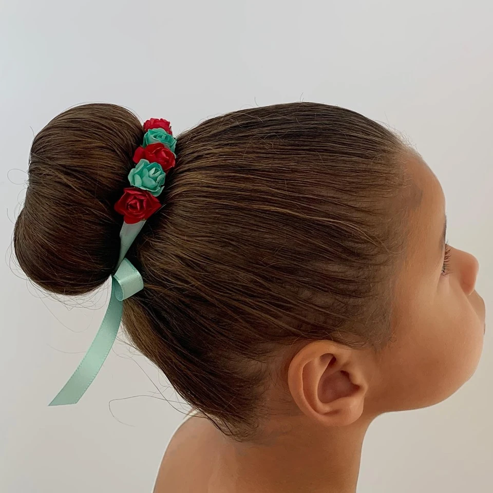 Handmade Floral Princess Bun Wrap - All Profits go to NHS Charities Together