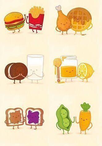 Pin by Tata on MATCHING (CUTE STUFF) | Cute food drawings ...