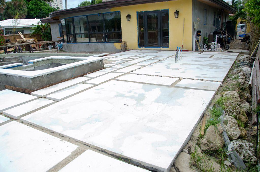 Backyard Concrete Paver Update Pavers Backyard Large Backyard