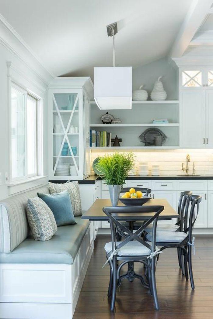 ▷ 1001 + Ideen Für Wandgestaltung Küche Zum Entlehnen | Pinterest | Wandgestaltung  Küche, Hellblaue Wände Und Gemütliche Küche