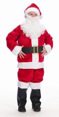 Fancy Dress Child Kids Santa Father Christmas Xmas 3 Sizes Fit Ages 4-12