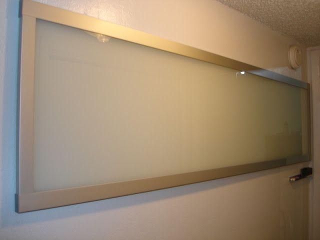Such A Good Idea  Use Ikea Sliding Door Panel As A Dry Erase Board!