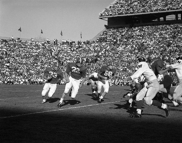 Msu Versus University Of Michigan Football Game 1962 Michigan Football University Of Michigan Michigan State University