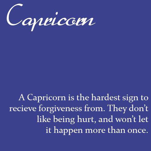 Hurt is when capricorn a What Happens