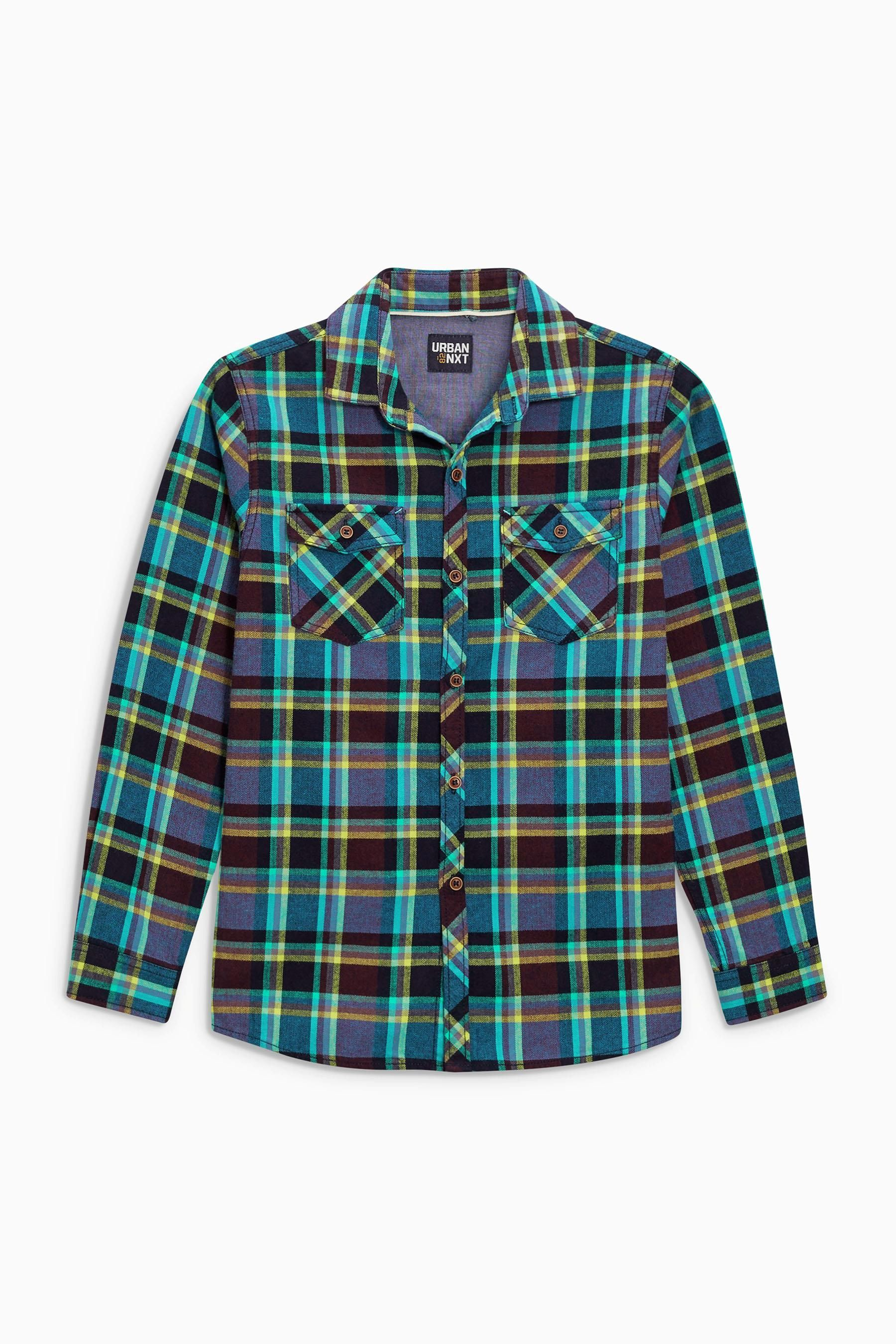 Buy Teal Long Sleeve Check Shirt (3-16yrs) from the Next UK online shop
