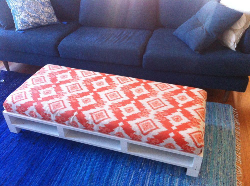 Ottoman Pallet Design - Funky, foot stool, coffee table, Ikat ...