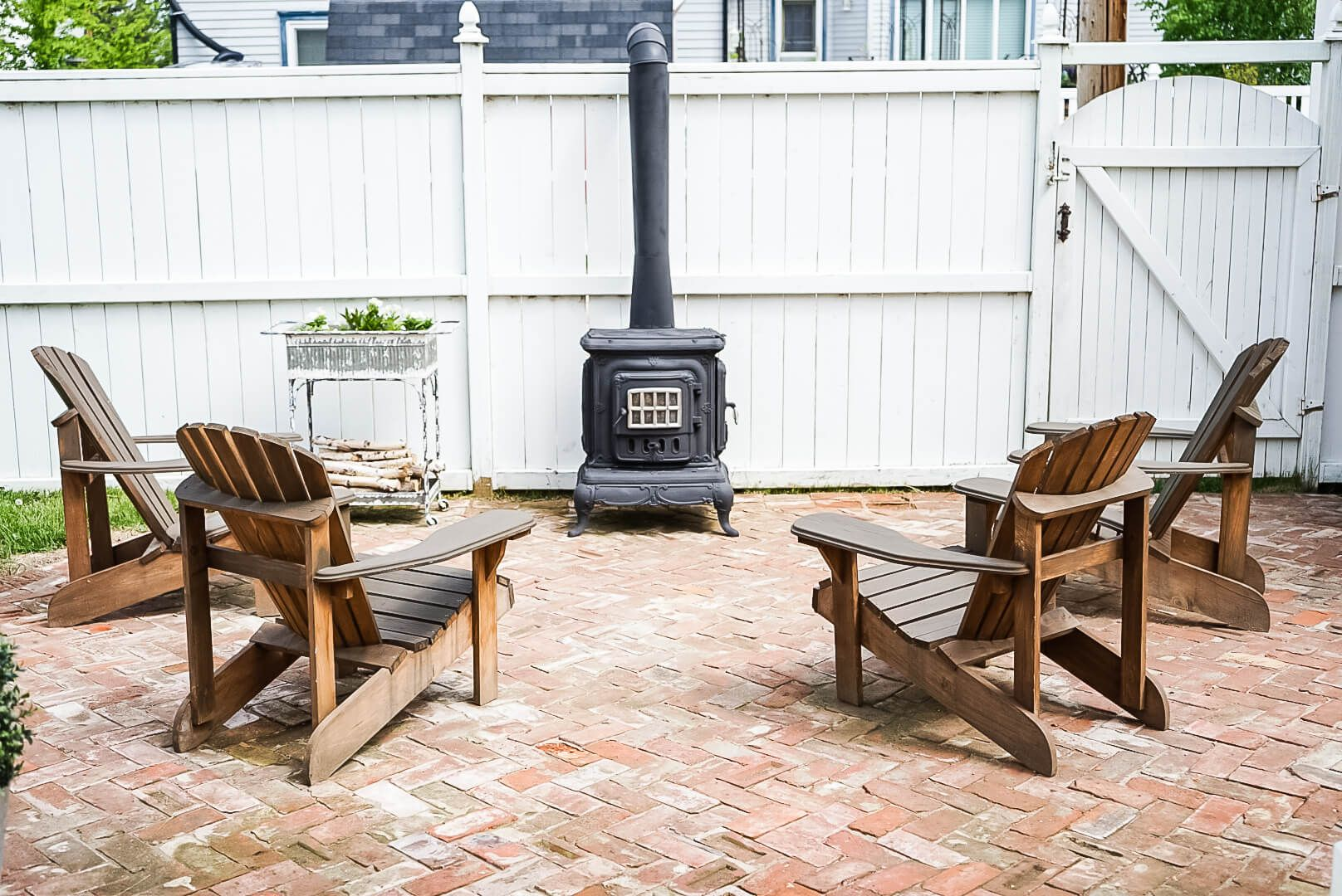 Outdoor Wood Burning Fireplace 6 Step Diy Guide Using Rustoleum Spray Paint Vintage Society Co Outdoor Wood Burning Fireplace Outdoor Wood Wood Burning Fireplace