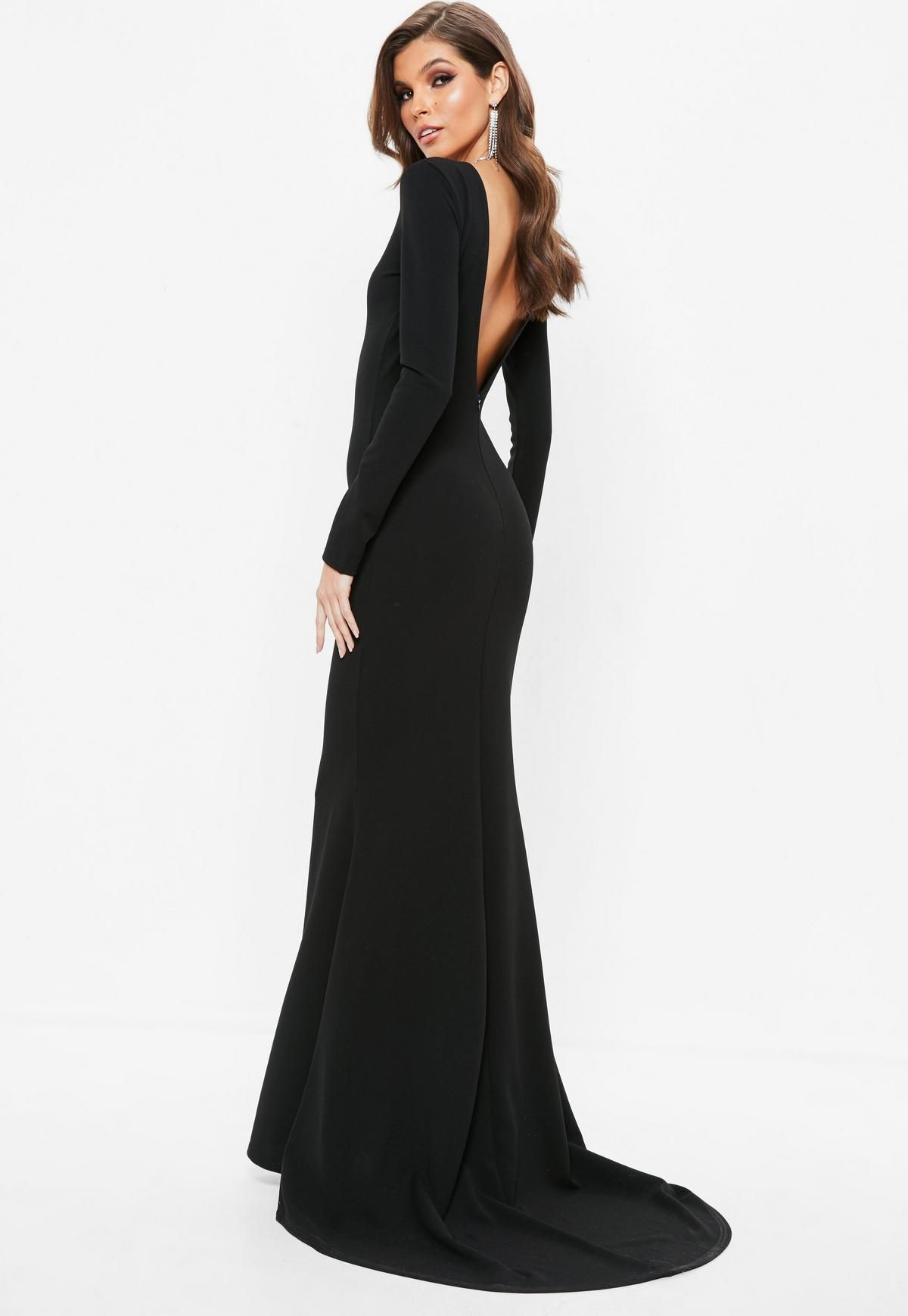 Missguided Black Open Back Maxi Dress Black Tie Event Dresses Maxi Dress Black Gown Dress